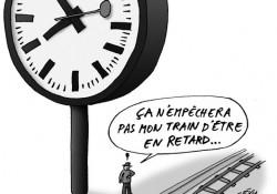 Horloge géante au siège des CFF